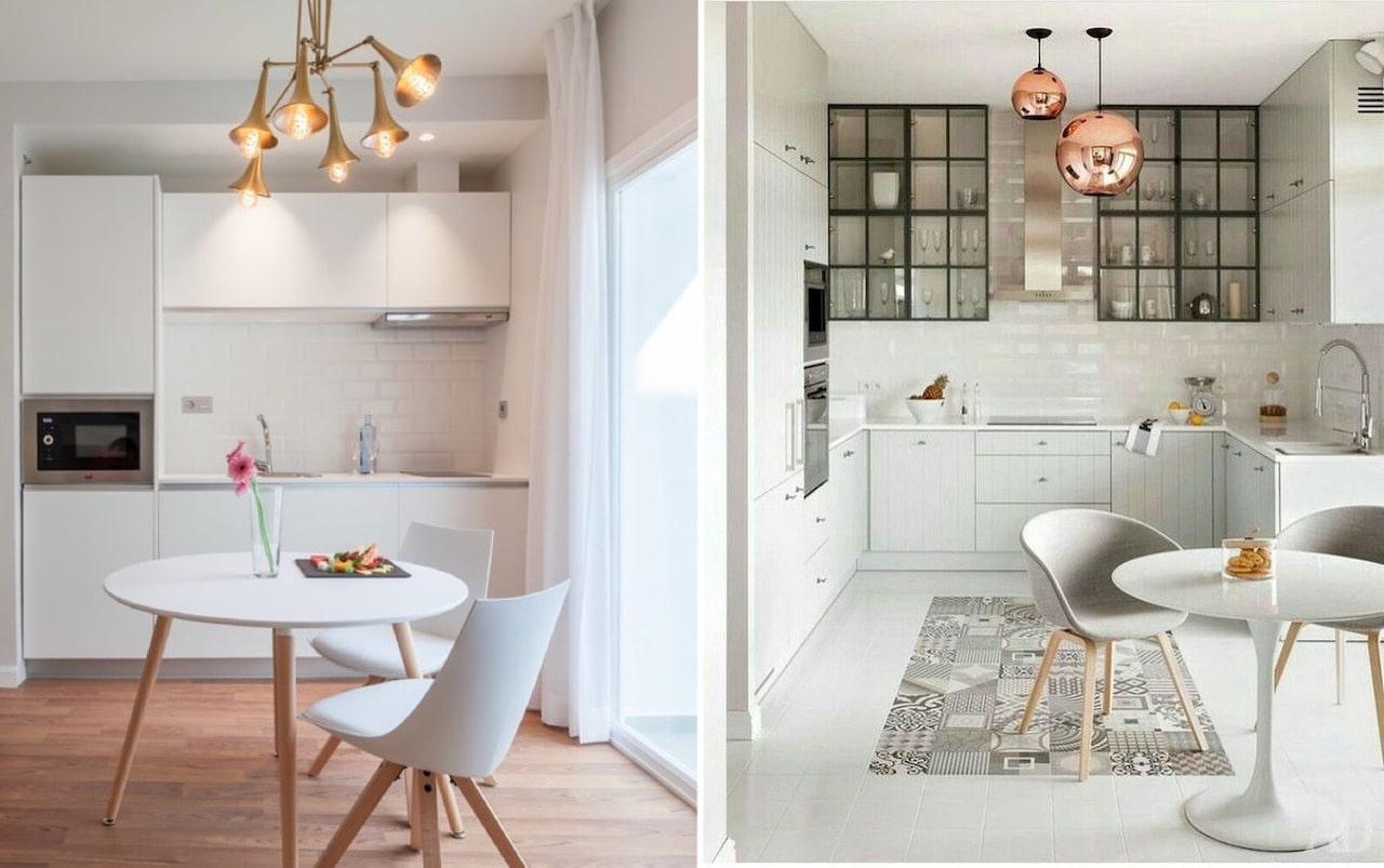 Небольшой круглый стол - идеальный вариант для маленького помещения