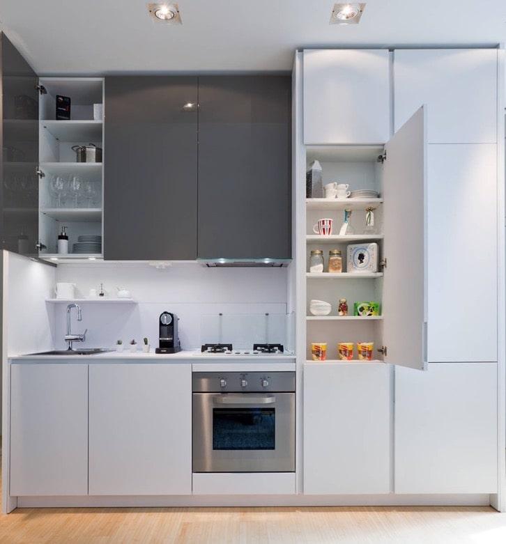 Правильное планировка мебели на маленькой площади кухни