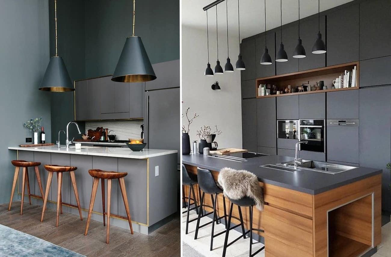 фасадов кухни помогут предметы мебели натуральных природных оттенков