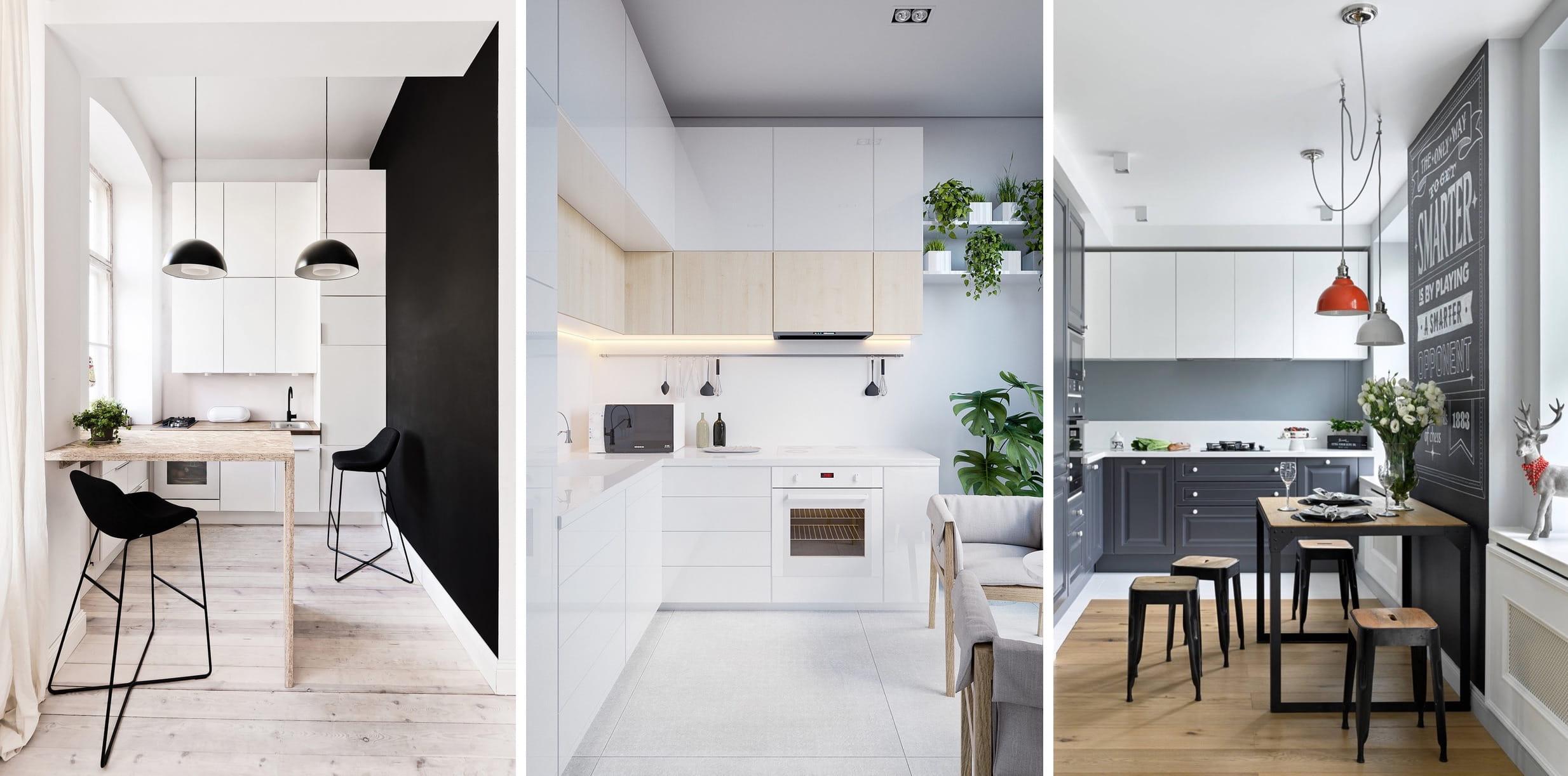 Интерьер маленькой кухни может быть комфортным и уютным