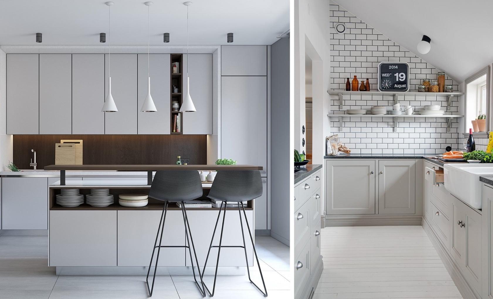 Серый цвет актуальный дизайнерский тренд для кухни 2020 года