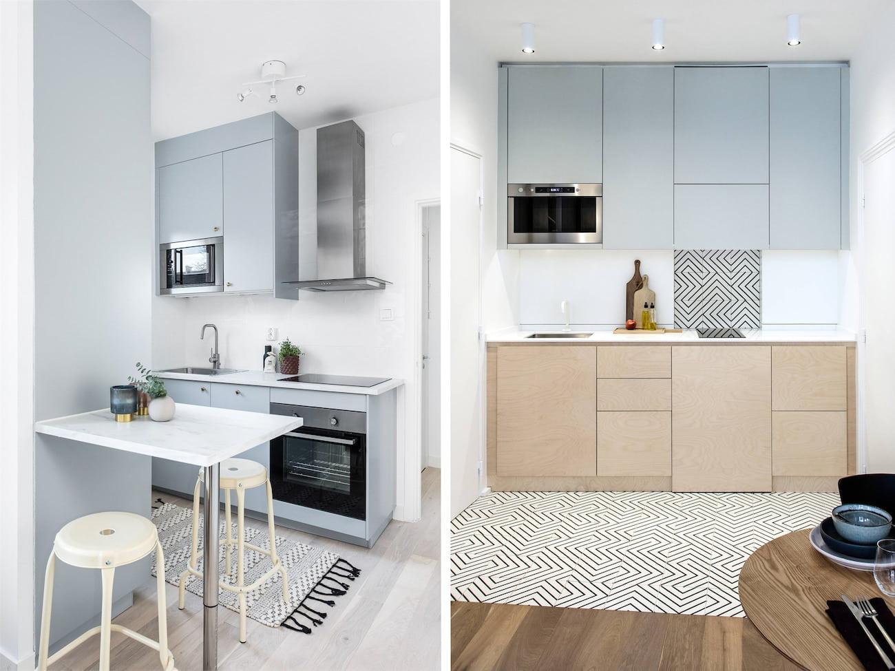 Модный и эргономичный дизайн кухонного помещения с прекрасно подобранным мебельным гарнитуром