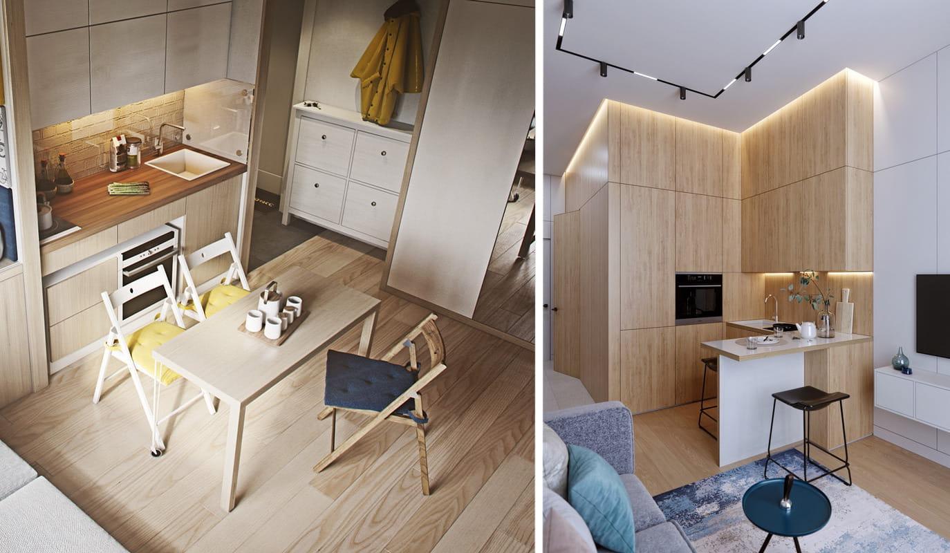 Складные стулья - лучшее решение для экономии места на маленькой кухне