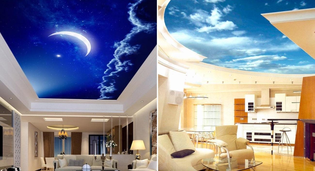 Бесконечные просторы неба на потолке