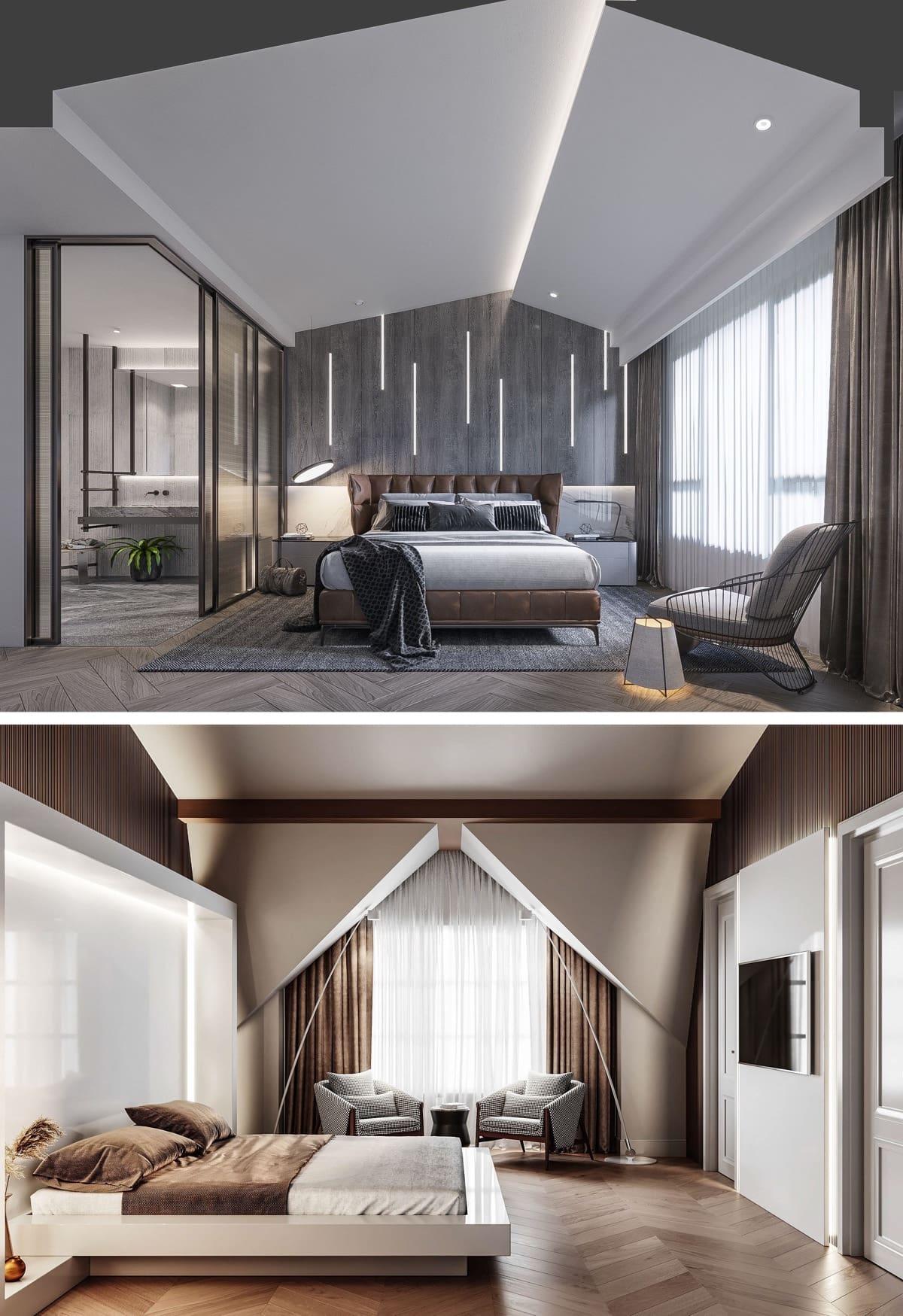 Интересный вариант многоуровневого потолка с красивым и необычным дизайном