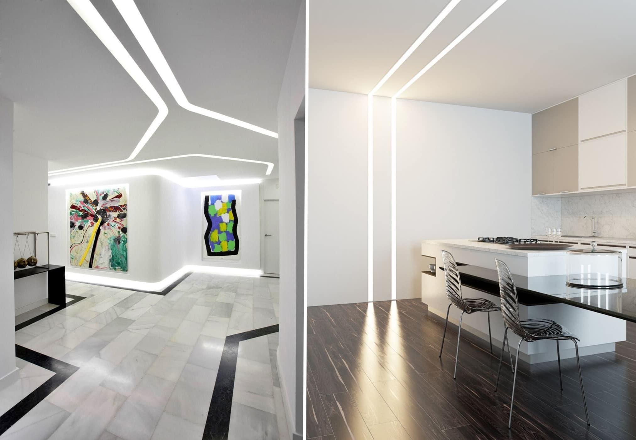Современный дизайн и модное оформление потолков