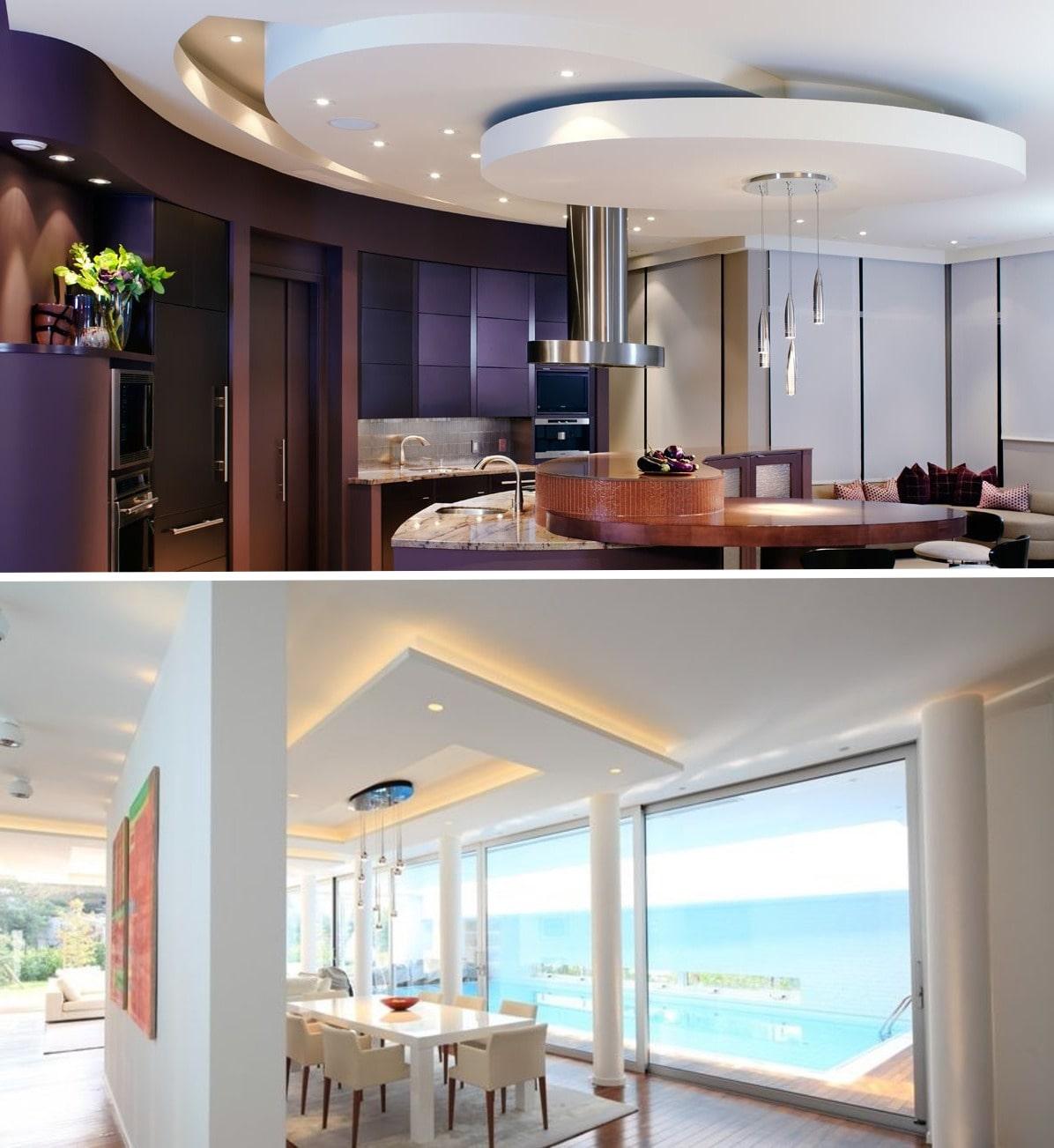 Оригинальные и впечатляющие потолки 2020