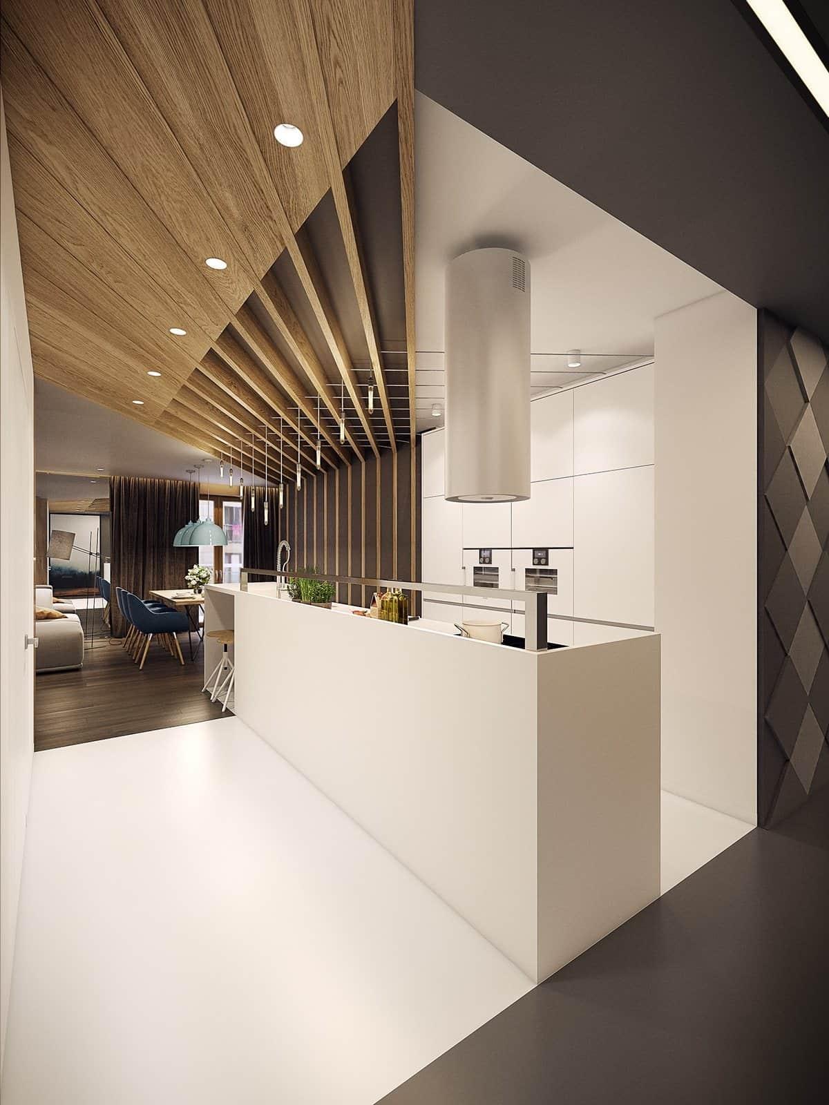 При правильном подходе, потолок способен стать фокусной точкой всего интерьера