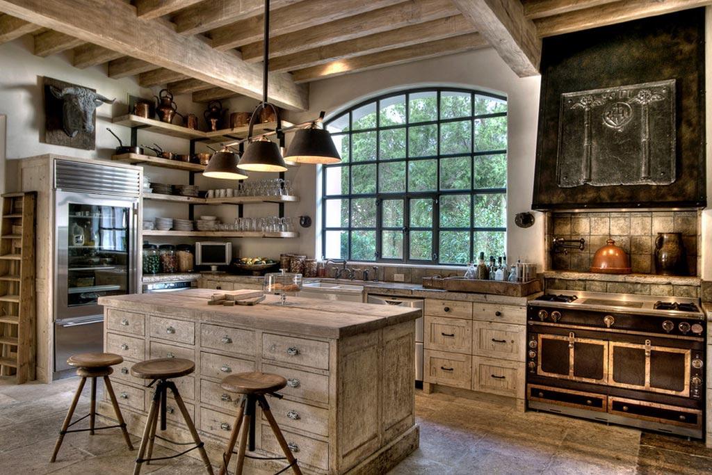 Деревянная кухня в стиле шале в современной интерпретации
