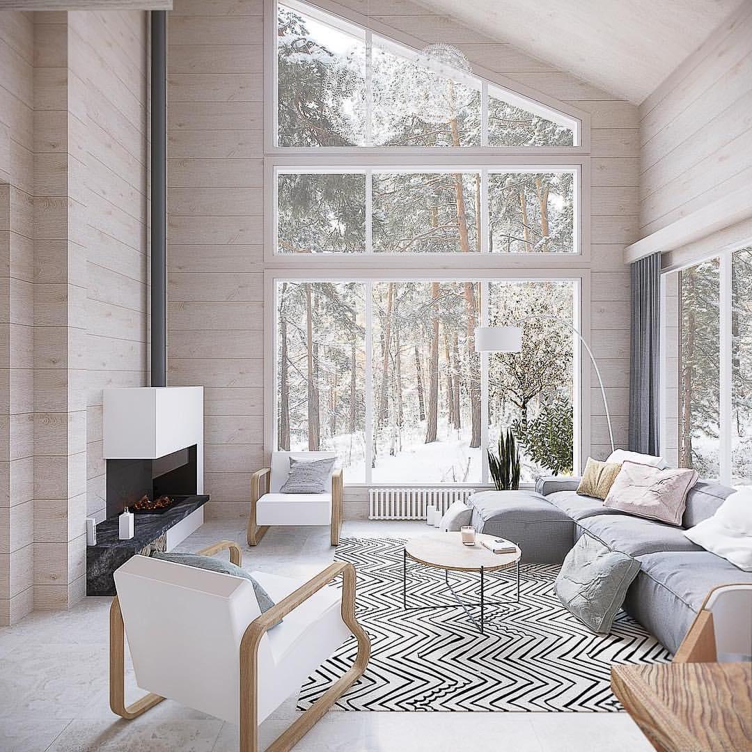 Дизайн интерьера этого дома полностью гармонирует с живописным видом из окна