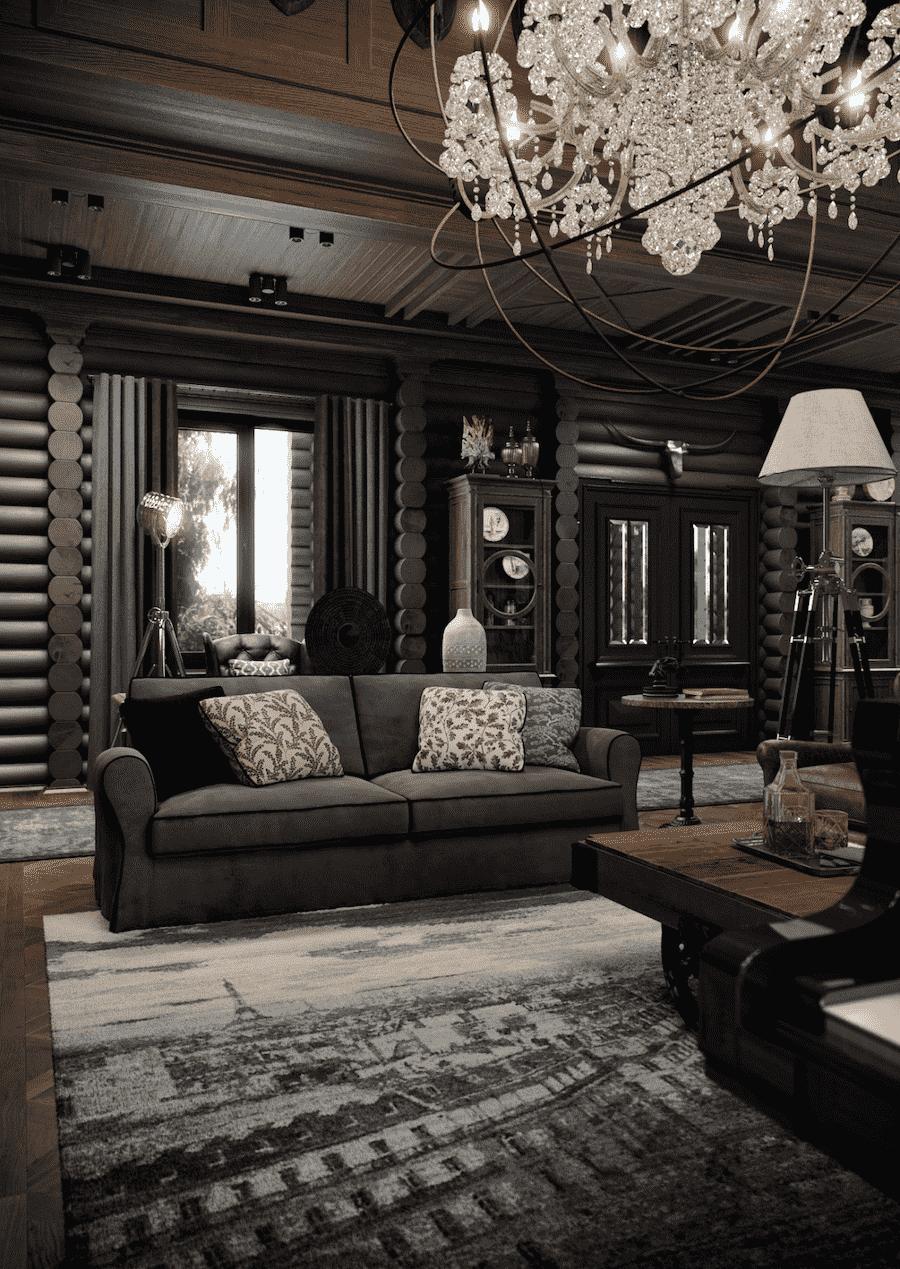 Темный венге в интерьере дома указывает на отменный вкус и стиль хозяев