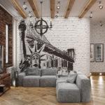 рисунок на кирпичной стене