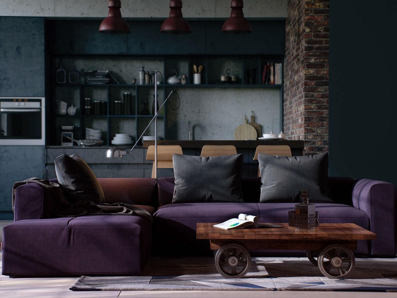 Дизайн проект стильного и красивого интерьера