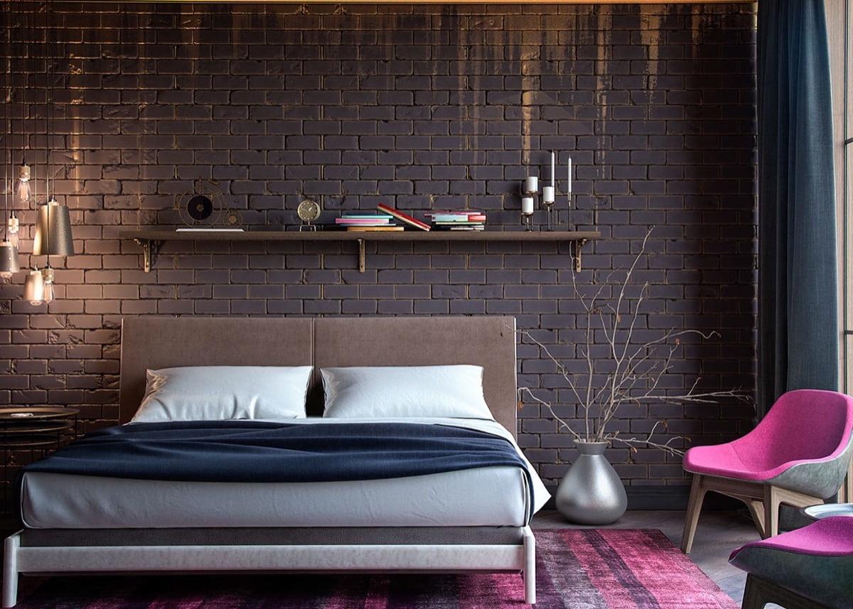 Окрашивание кирпичной стены – простой способ преобразить комнату