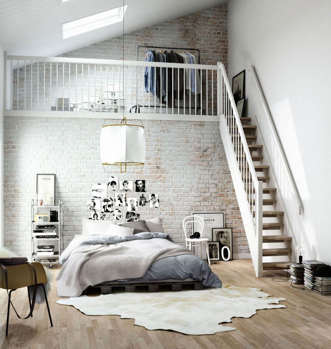 Интересная задумка для квартиры с высокими потолками