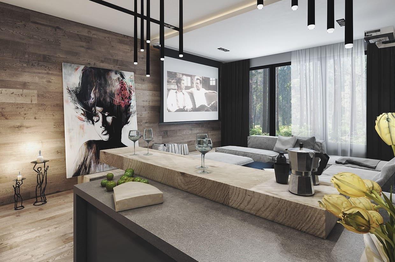 Используя ламинат в интерьере важно ориентироваться на общий дизайн-проект квартиры