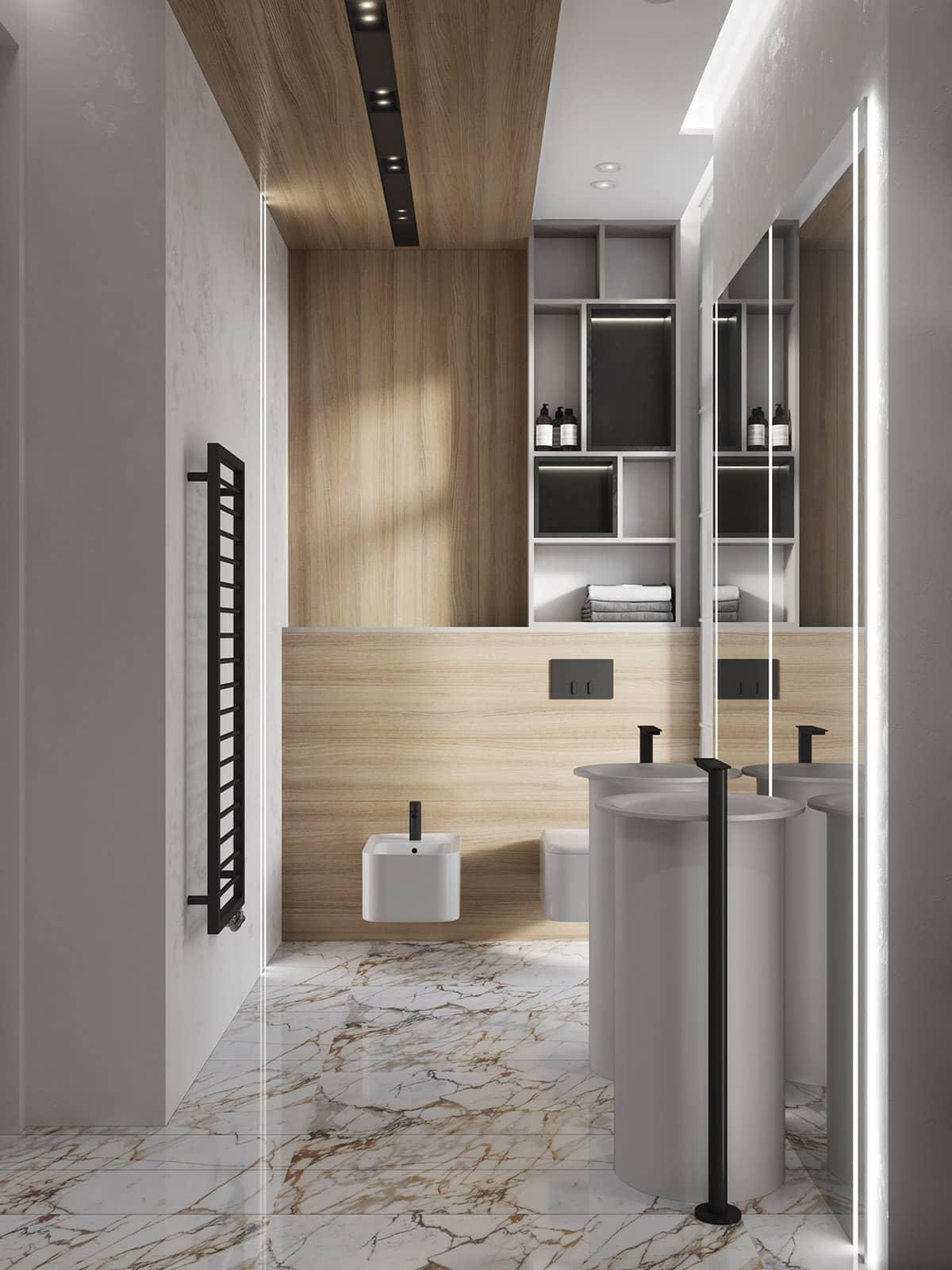 Совершенный дизайн ванной в стиле минимализм