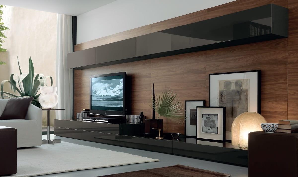 Стена отделанная ламинатом становится акцентной в любом помещении, приковывая к себе особое внимание