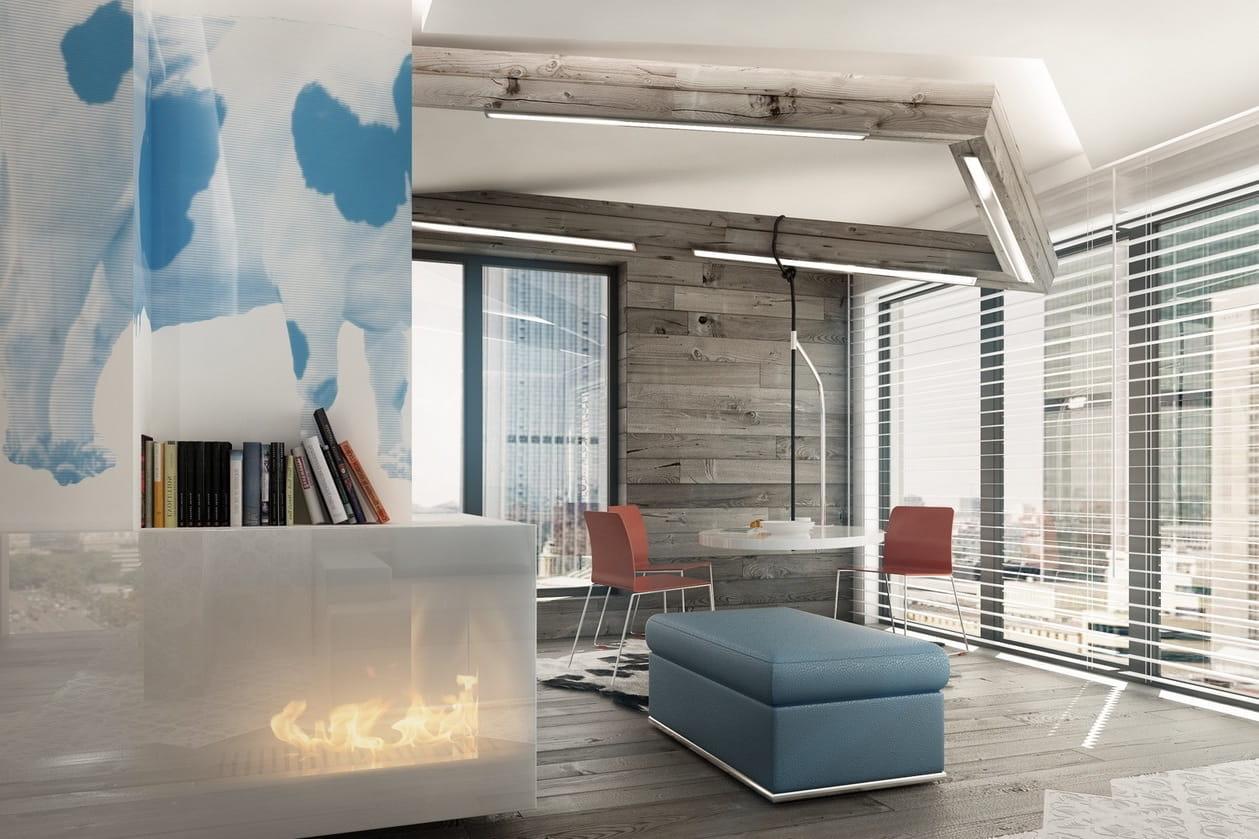 фото ламината на стене в гостиной