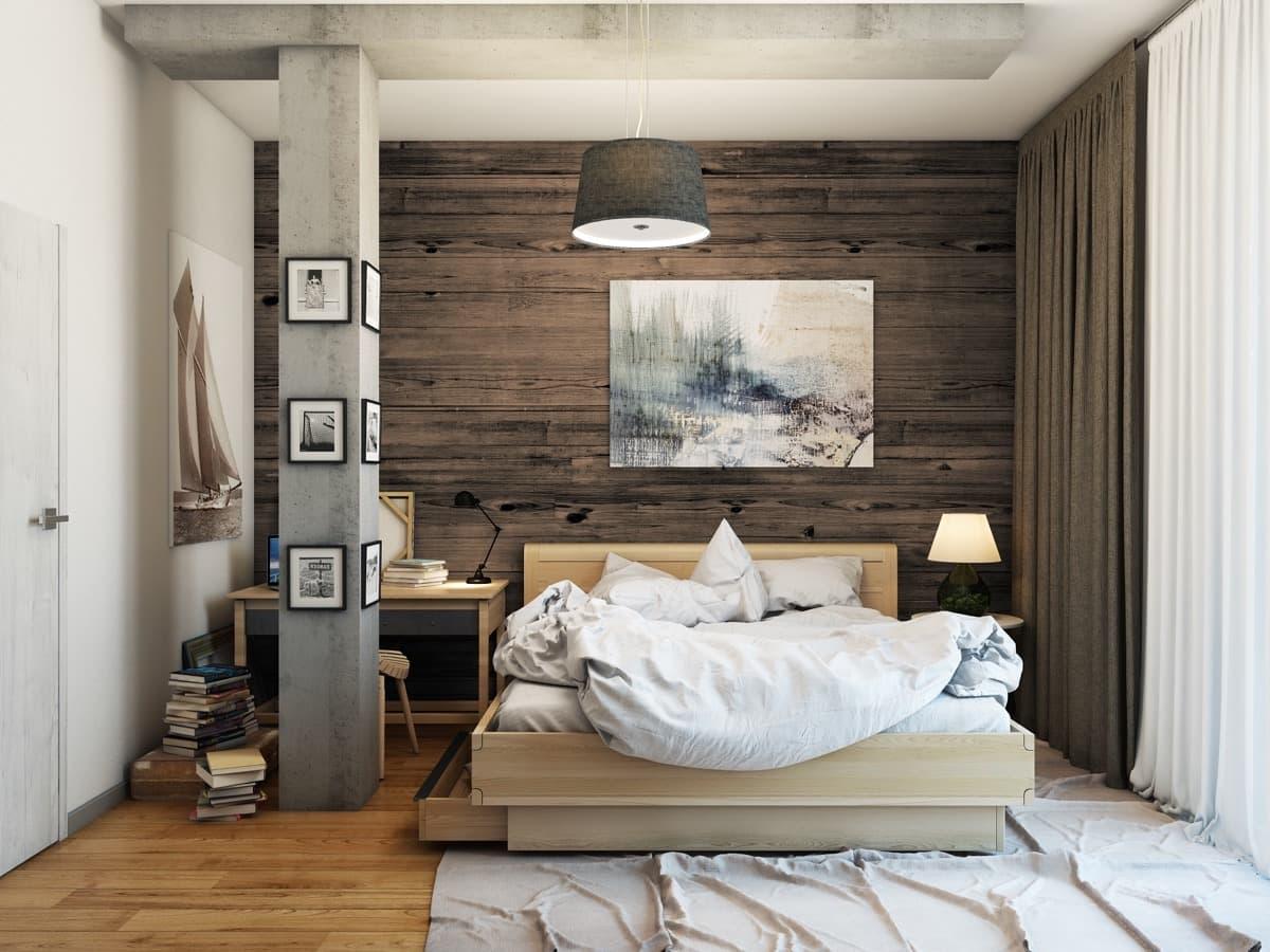Ламинат на стене поможет сделать интерьер уютным и практичным