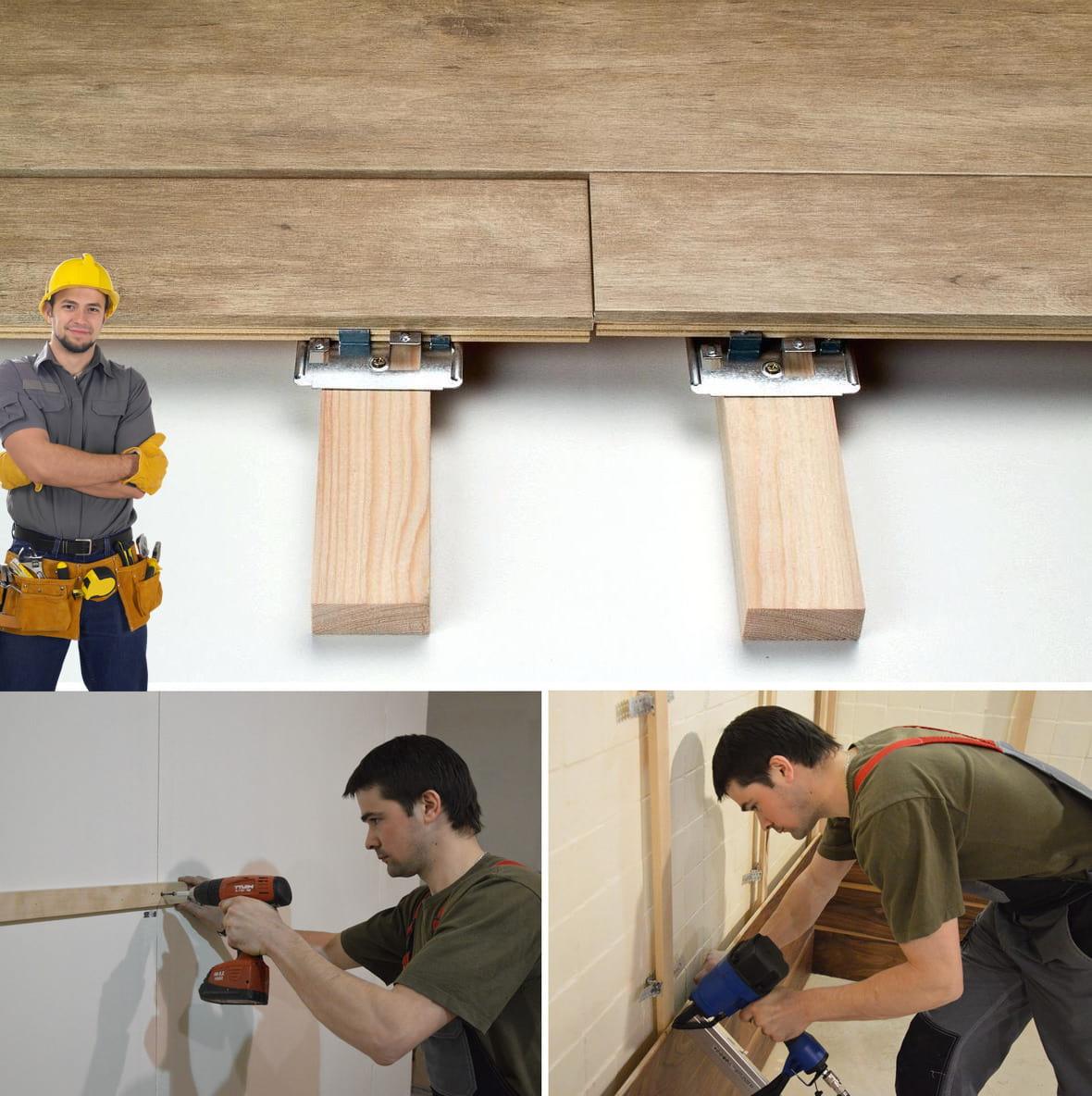 Крепление ламината на стену своими руками каркасным способом