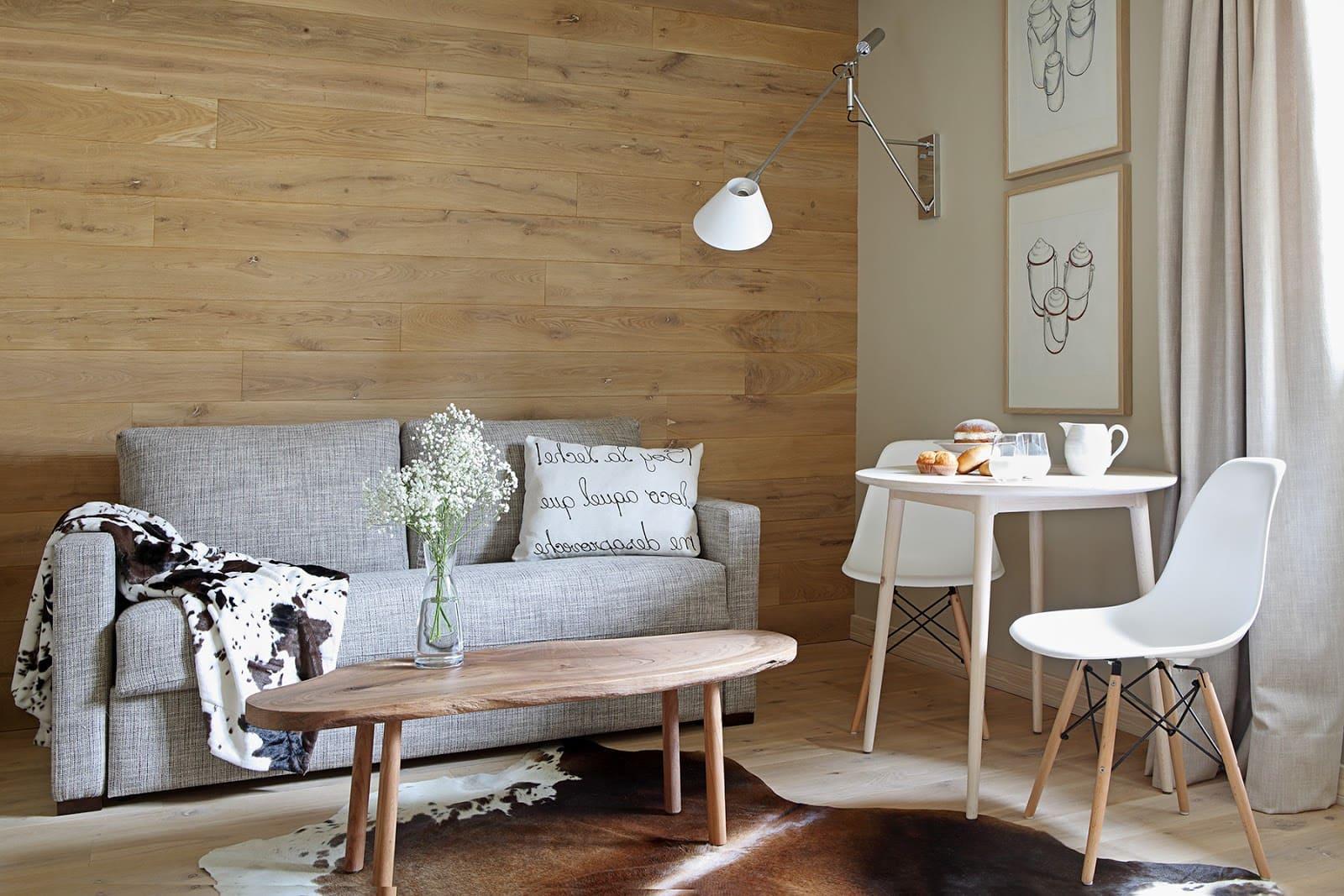 Красивый светлый интерьер в скандинавском стиле