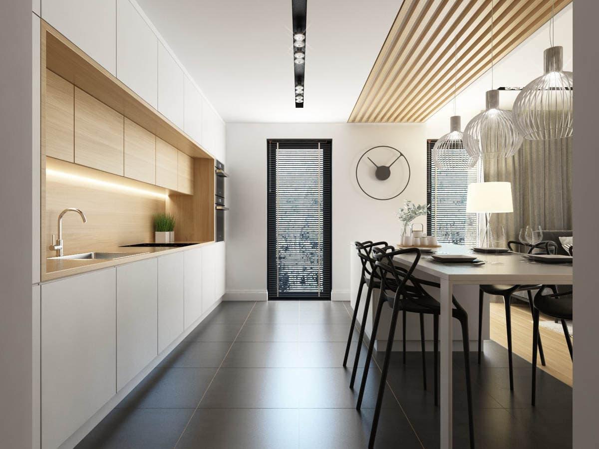 Используя ламинат на кухне можно выразить свои самые необычные идеи и нестандартные решения