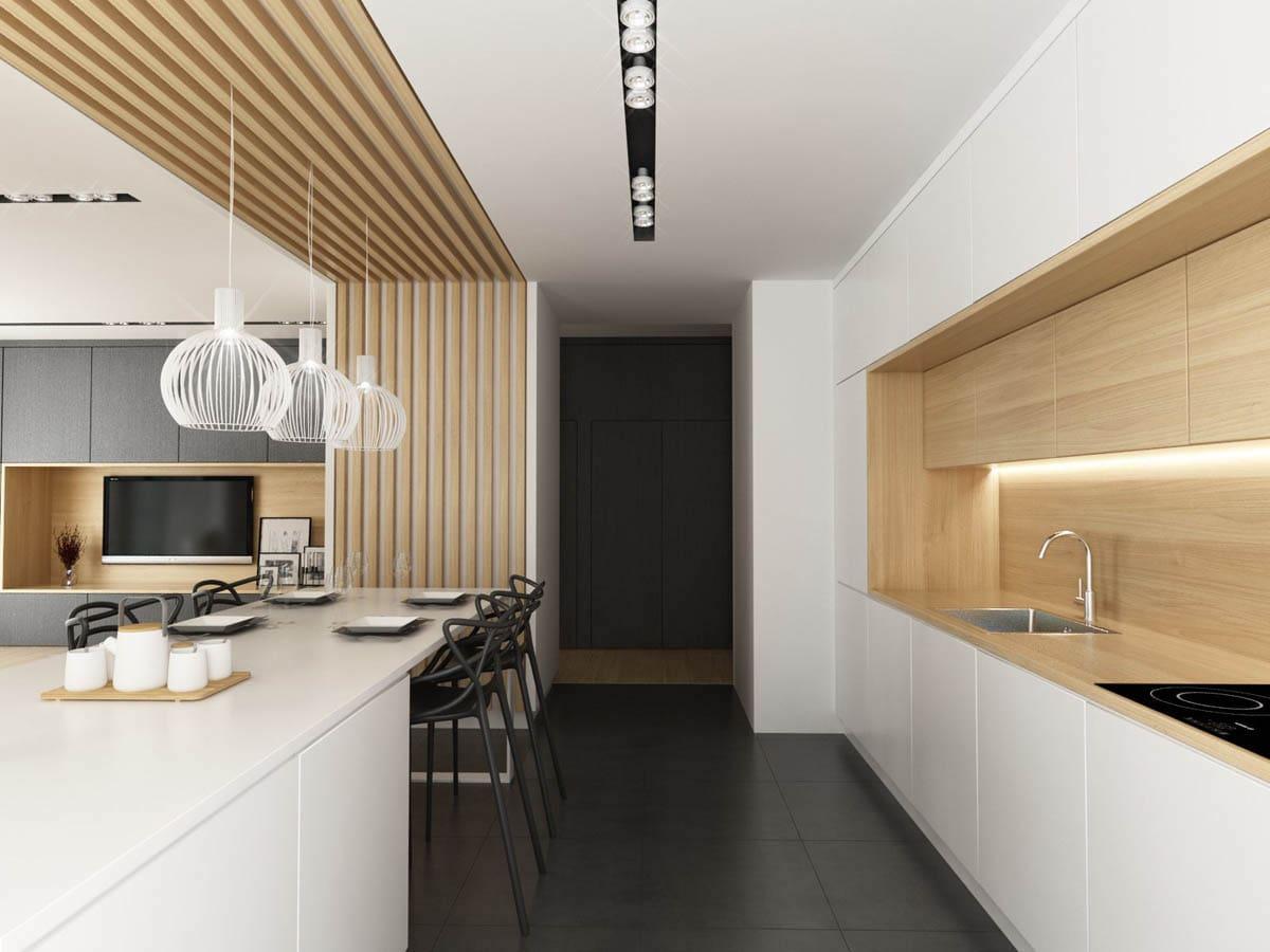 Несколько интересных идей про применению ламината на стенах помогут устроить свою кухню ярко, оригинально, современно и не потерять при этом тонкую нотку стиля