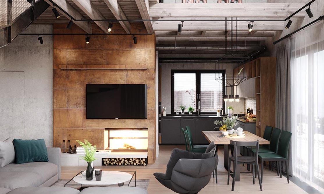 Комфортная и мягкая мебель - обязательный критерий для большой гостиной