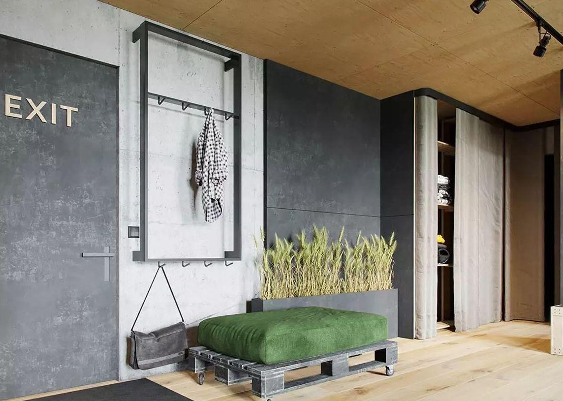 Усовершенствованный и модный дизайн квартиры студии лофт
