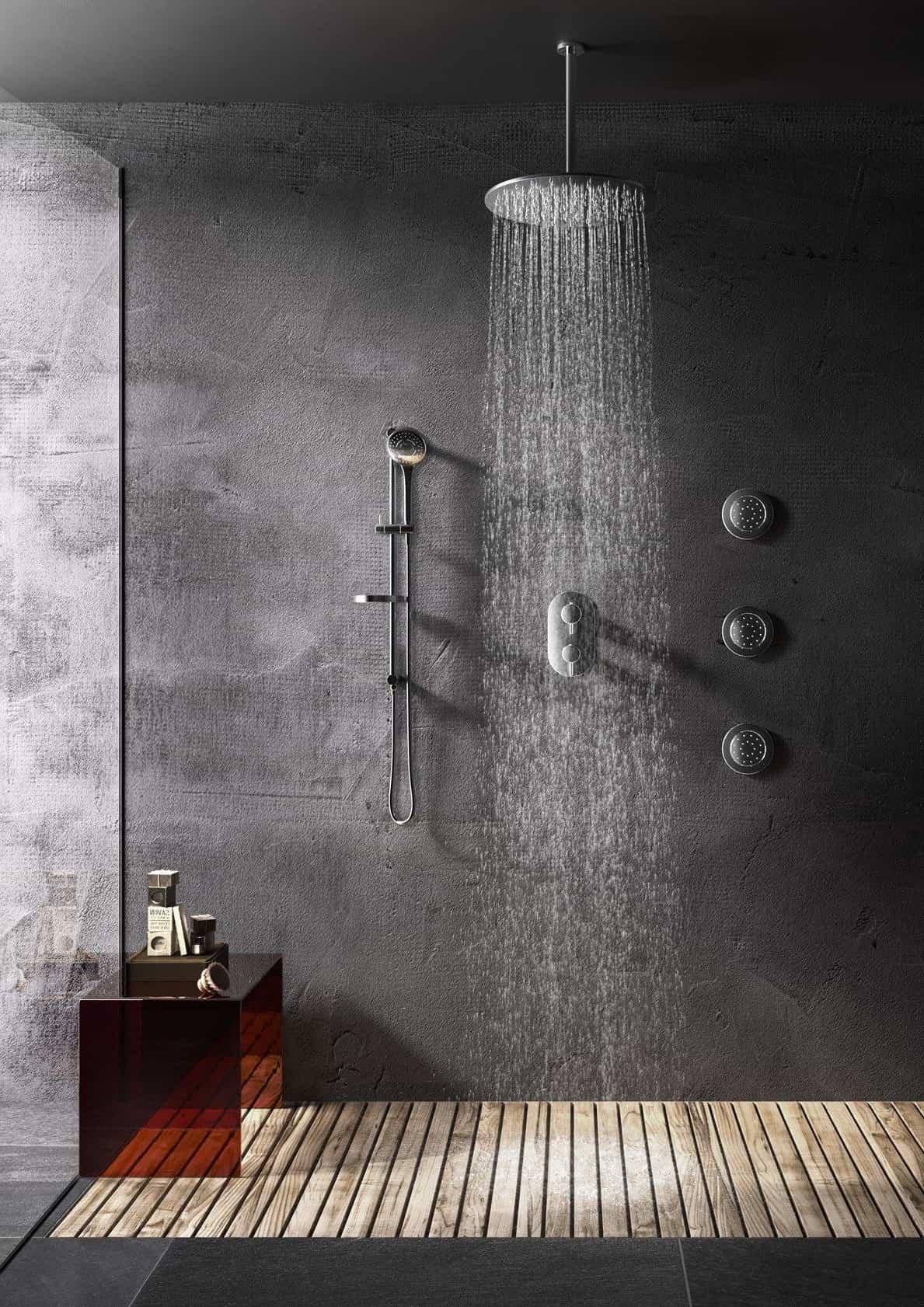 Минималистичный и шикарный дизайн ванной со стеной невидимкой