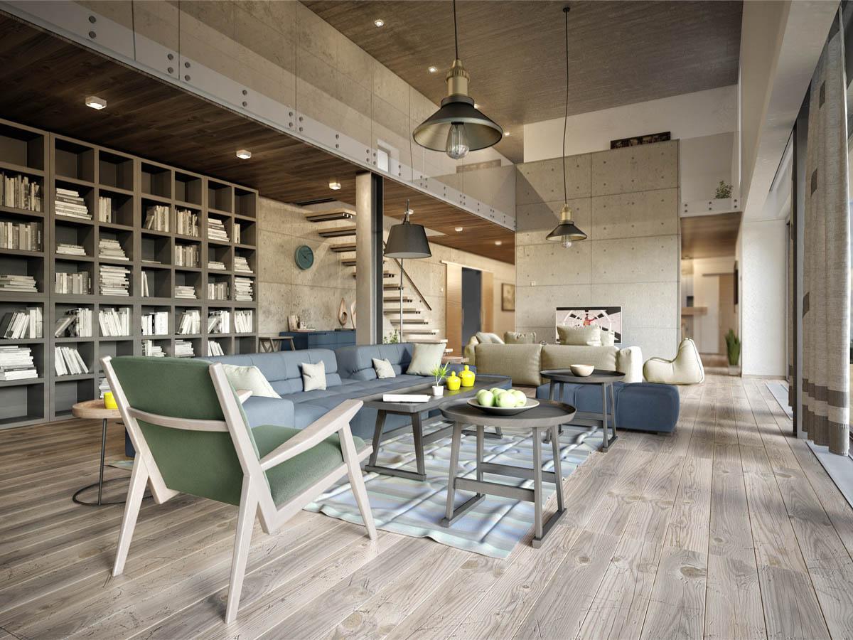 Спокойный и комфортный дизайн городской квартиры
