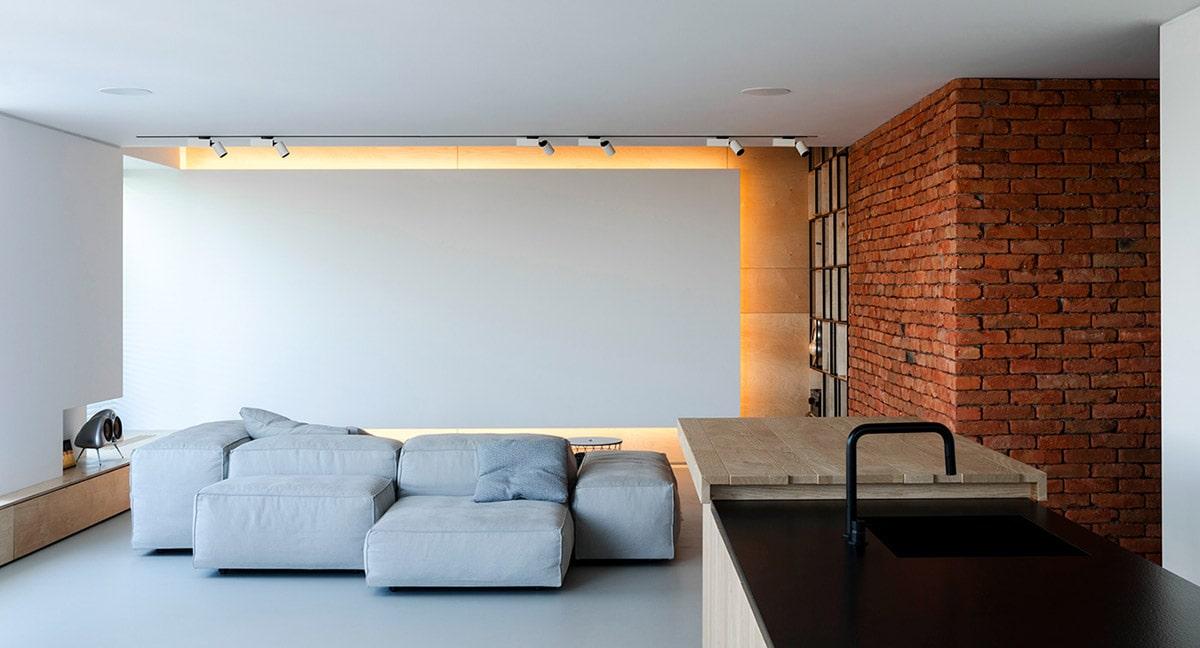 Светлые, пастельные тона создают необычную иллюзию пространства, что особенно важно для лофт дизайна