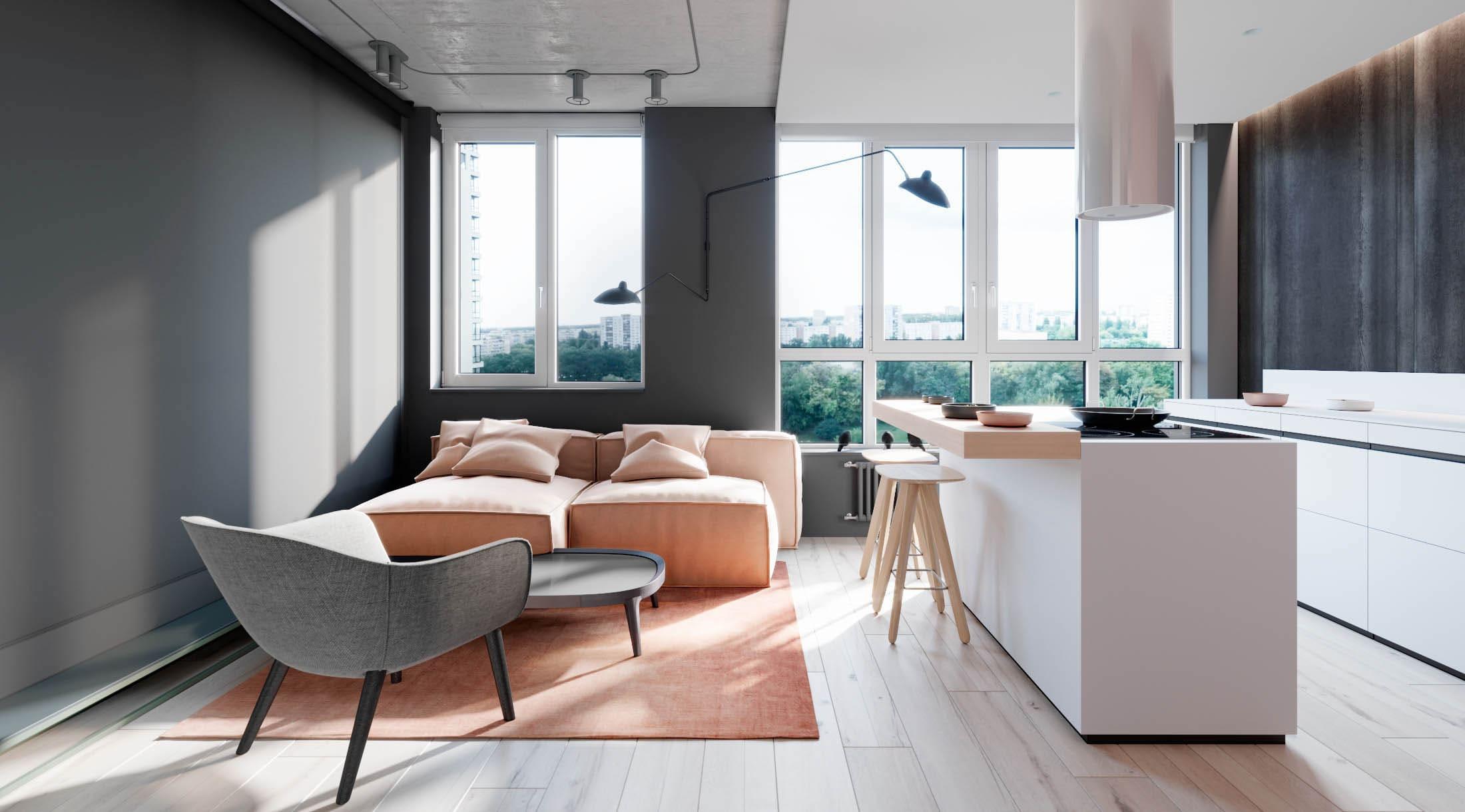 Максимум света и живой природы в городской квартире