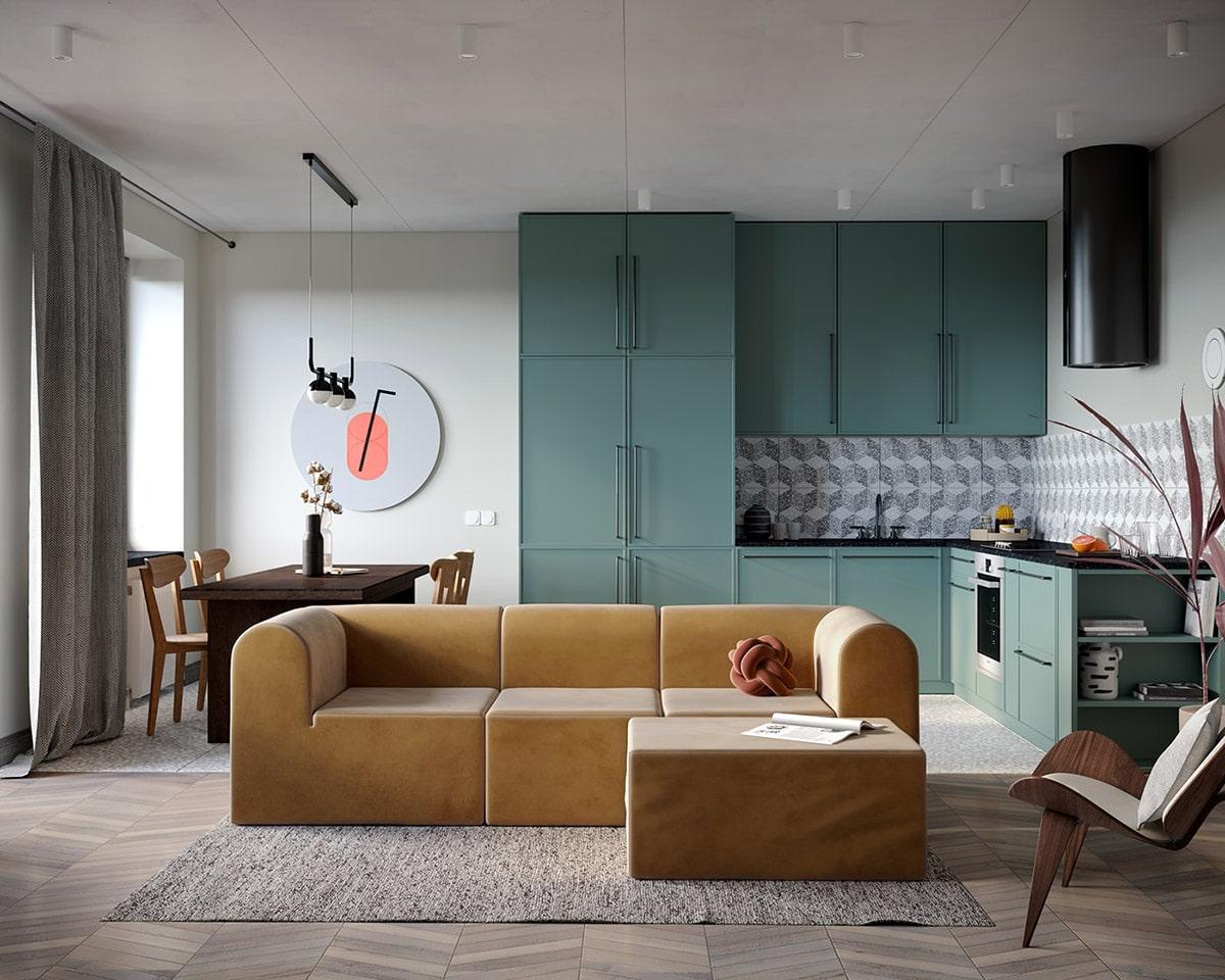 Красивый и модный дизайн интерьера - присутствуют только необходимые предметы