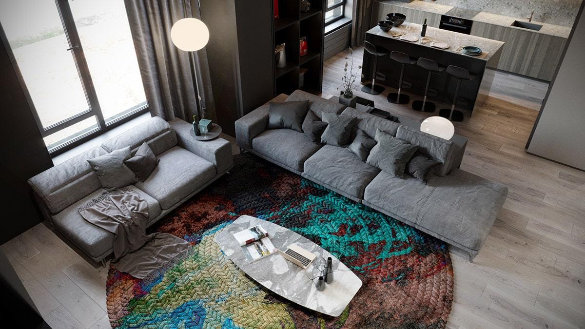 Яркий ковер станет завершающим элементом декорирования и украшения вашего жилья