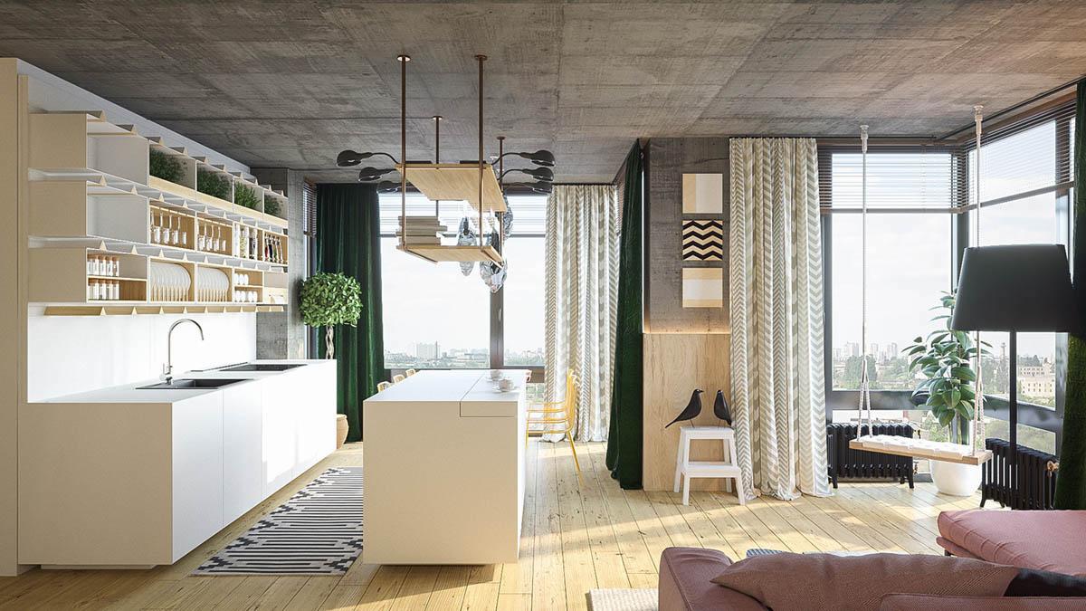 Подвесные качели - изюминка и дополнение интерьера гостиной