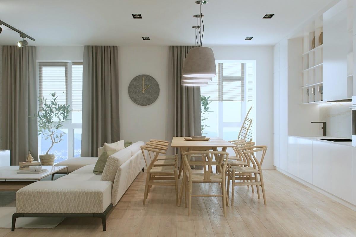 Стильная и изящная комната где царит спокойствие, тишина и умиротворение