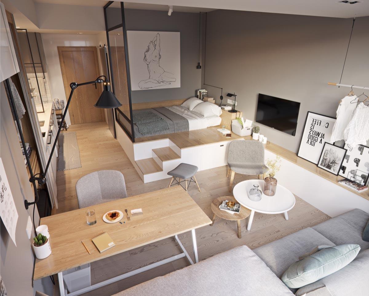 Кухня, объединенная с гостиной комнатой позволяет более рационально использовать пространство