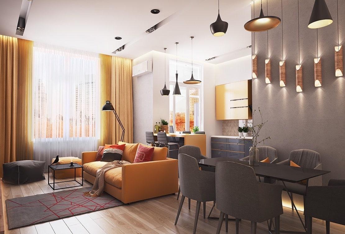 Жизнерадостный интерьер в квартире-студии
