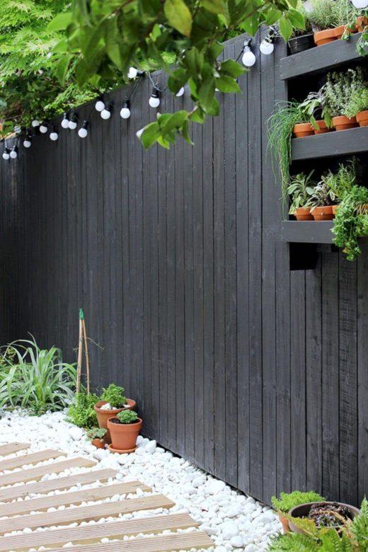 современный забор для частных домов картинка