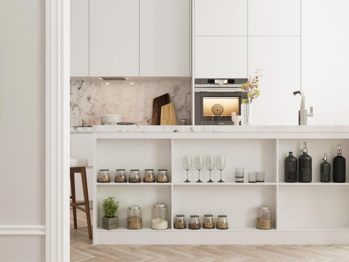 белые кухонные фасады