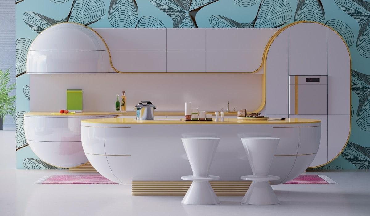 футуристический дизайн помещения