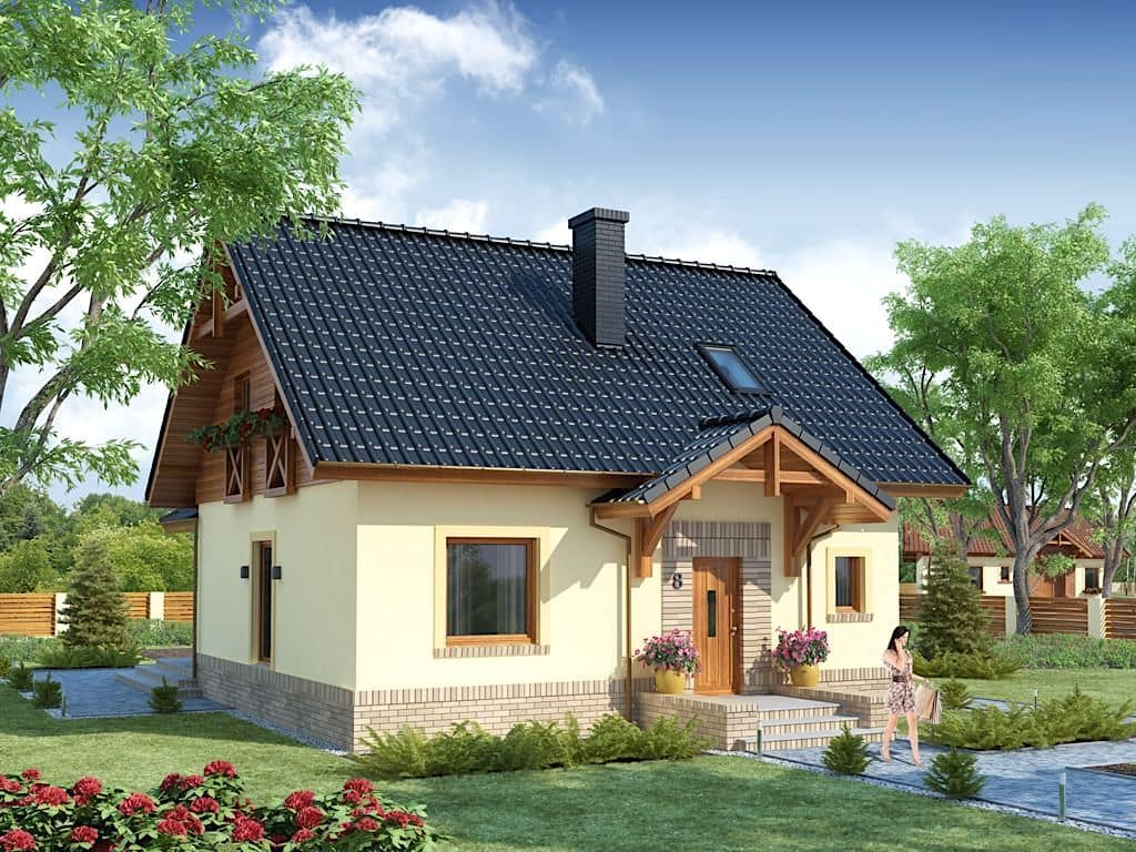 Уютный домик с интересным и необычным оформлением стен