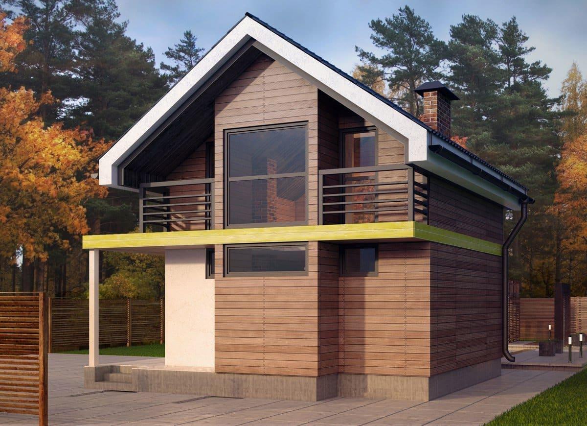 Отделка фасада имитацией бруса преобразит внешний вид дома