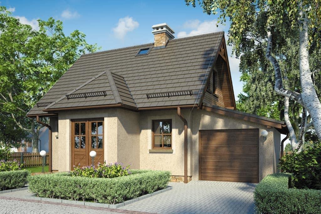Слишком громоздкий дом будет выглядеть нелепо на маленьком участке, поэтому дачу обычно строят небольшого размера
