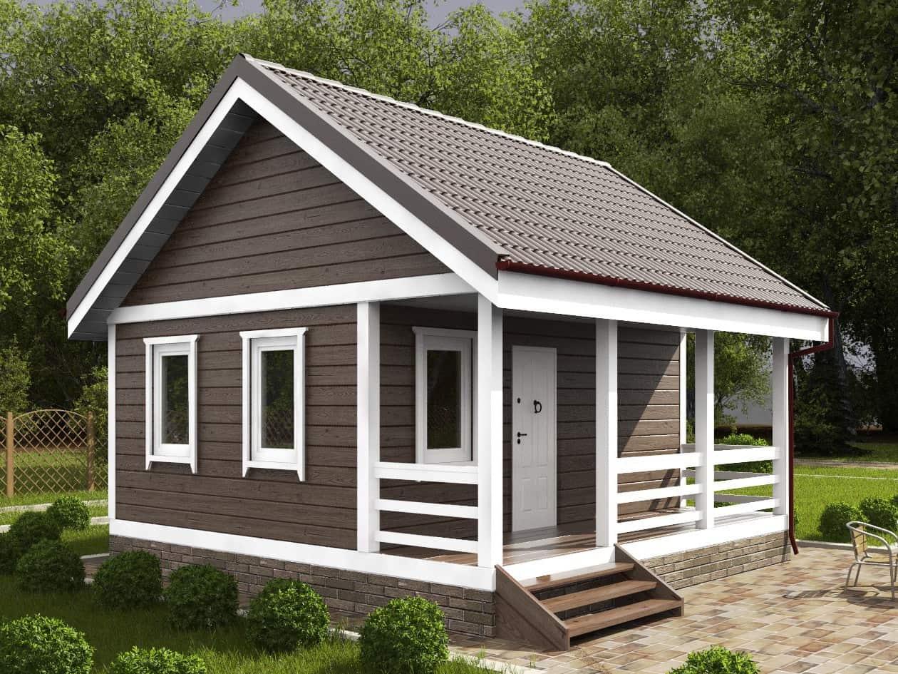 Красивый дачный домик в скандинавском стиле
