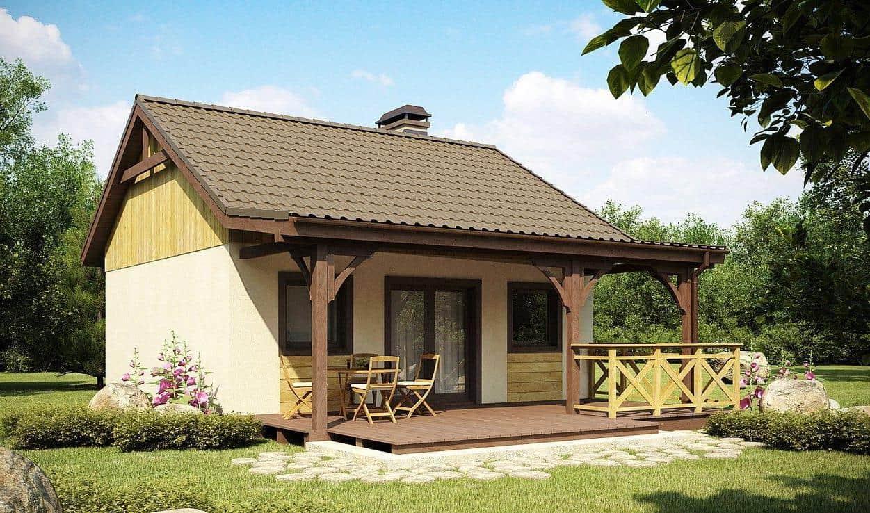 Открытая терраса пристроенная к дому значительно увеличит его полезную площадь