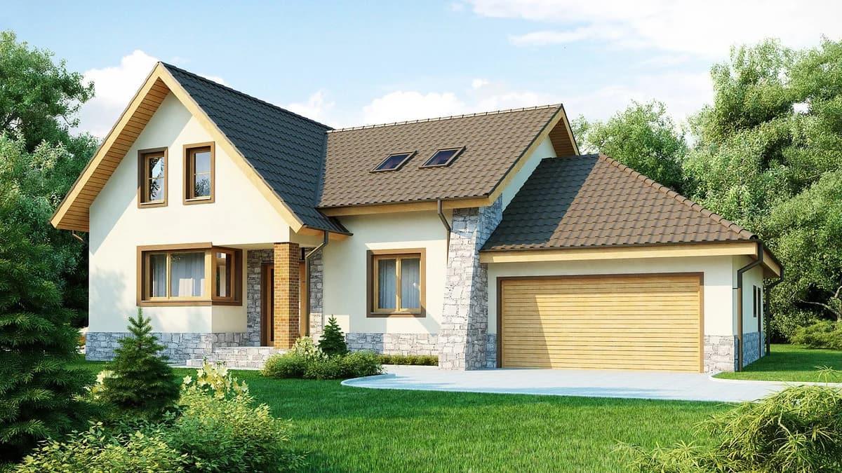 Пристроенный к дому гараж должен соответствовать архитектуре основного строения