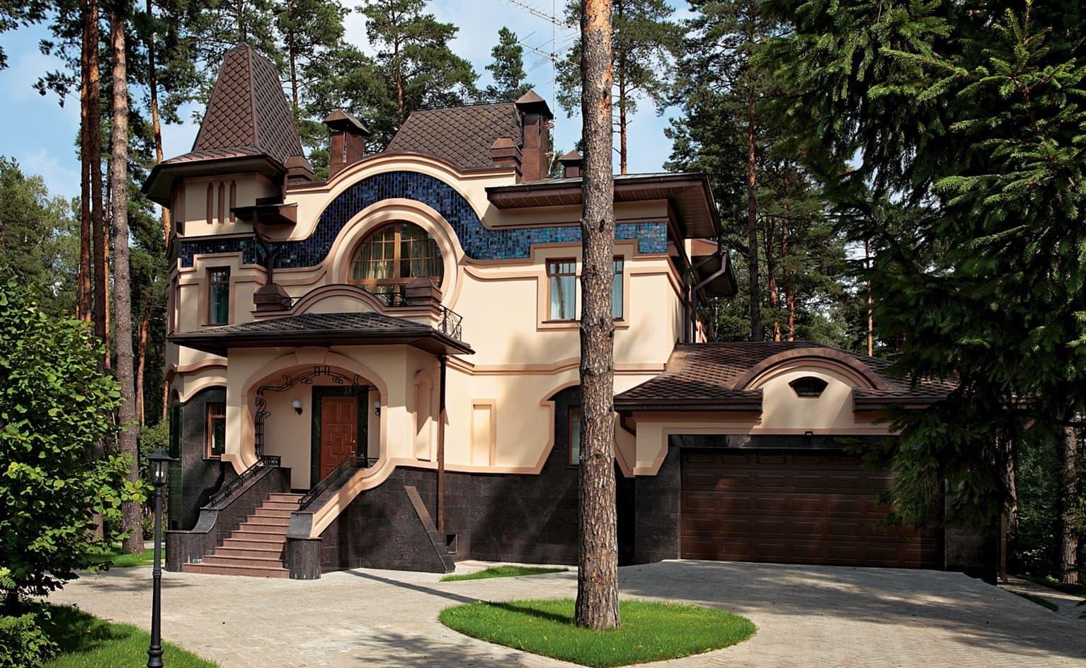 Простота, строгость и изящество форм дома в стиле модерн